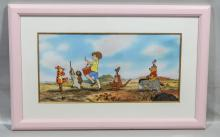 Winnie the Pooh limited edition Disney serigraph cel, Pooh Bear Parade, edition 199/500, 11-1/2