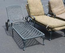 (4) Patio chaise lounges with cushions, 29