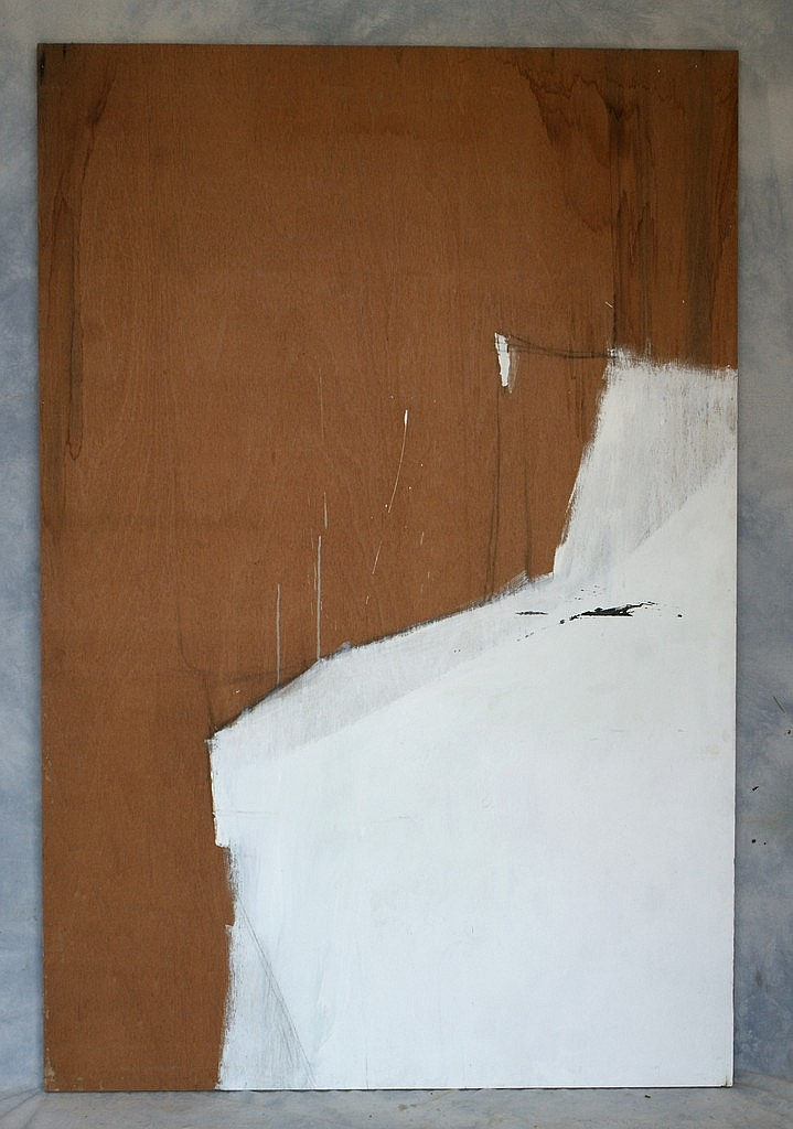 Tom Bostelle, American, PA, 1921-2005, o/l, Study for a white abstract, 72