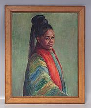 American School, o/canvas, Orientalist Portait, 20th Century, 30