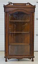 Victorian Oak Corner Cabinet with single flat door, 55