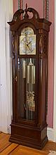 Ridgeway Cherry finished 3 weight tall clock, serial number 86011224, model 5281, 82