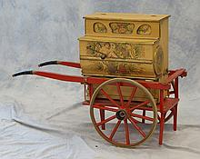 Vicente Llinares Faventia Organ with Wagon Cart, overall 26