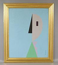 Seymour Zayon, American, b. 1930, o/board, Abstract,  SLL, 16