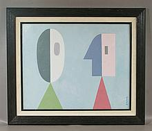 Seymour Zayon, American, b. 1930, o/ board, Abstract, SLL, 16