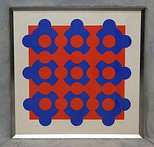 Victor Vasarely, French/Hungarian, 1906-1997, Op-Art, Colored Lithograph, Edition 73/290, Pencil signed LC, 27