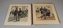 The Army of the United States, a portfolio of 27 lithographs in color depicting uniforms from 1799 to about 1890, Copyright 1885 by ...
