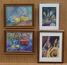Dooley, Barbara, 4 watercolors, Still Life with Covered ? (18-1/2