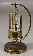 Singing bird Bradley birdcage clock, 8-1/2
