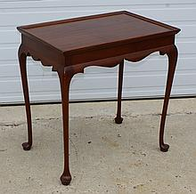 English Edwardian mahogany tea table, Queen Anne style, 25