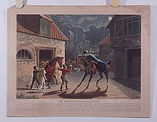 (6)  Charles Hunt, British, 18903-1877, Hand-Colored Mezzotints,