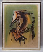 Wilfredo Lam, Cuban, active Paris, 1902-1982, lithograph,