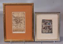 (2) Johnny Friedlander, German 1912-1999, Etching, Abstraction, P/S LR, 4 1/2