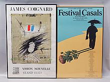 (2) Pair of 1970s Festival Posters: James Coignard, French, 1925-2008, original hand-signed poster done for the Washington Internati...