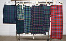 8 Scottish Textiles to include 1 Sinclair traditional tartan, 2 Sinclair Hunting tartans, 3 Murray of Atholl juniper tartans, and 2 ...