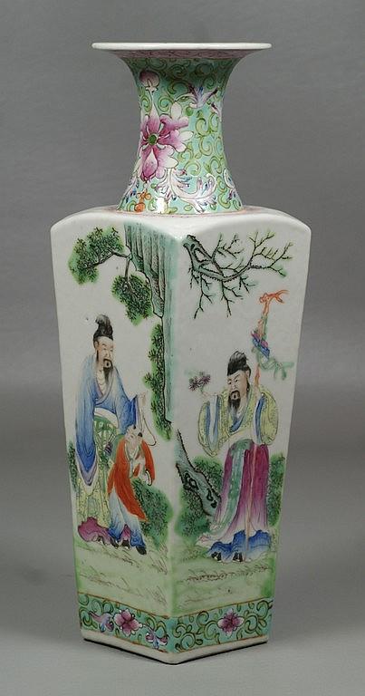 Finely Painted Chinese Porcelain Vase, marked China to base, 11