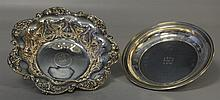 Sterling Silver Fruit Bowl and Presentation Plate, Plate Diameter: 12