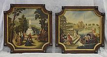 (2) Continental School, Landscape Scenes, Oil On Wood Panel, 26 1/2
