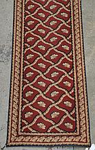 French Savonnerie Style Runner, 20th c, Length: 20