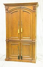 French Style Twin Door Entertainment Cabinet, 20th C, 81