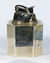 Tiffany & Company sterling silver weighted table lighter, 8 sided, approx 3