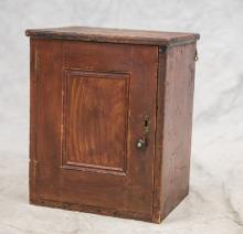 Maine Hanging Cupboard in red grained paint, 18