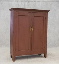 Red Jelly Cupboard, 2 doors, 3 interior shelves, 59