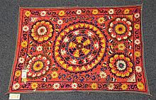 (6) Suzanis, 19th/20th Century, Central Asia, largest one measures: 12' x 4'9