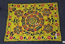 (6) Suzanis, 19th/20th Century, Central Asia, largest one measures:5'10