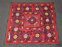 (6) Suzanis, 19th/20th Century, Central Asia, largest one measures:6'x 6'2