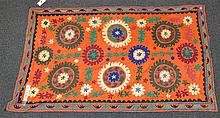 (6) Suzanis, 19th/20th Century, Central Asia, largest one measures: 8'7