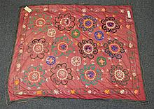(6) Suzanis, 19th/20th Century, Central Asia, largest one measures:9' x 4'9