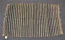 (6) Flat Weave blankets with Stripes, 20th Century, Morocco, one measures 5'8