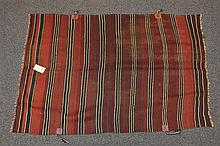 (6) Flat Weave blankets with Stripes, 20th Century, Morocco, one measures 8'8