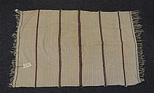 (6) Flat Weave blankets with Stripes, 20th Century, Morocco, one measures 8' x 2'10