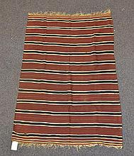 (8) Flat Weave blankets with Stripes, 20th Century, Morocco, one measures 5'9