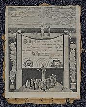 Pennsylvania Dutch birth certificate, Geberts und Taufzeugen, dated 1790, 29th June, originally frontispiece of bible, 12 1/2