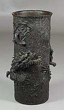 Japanese Bronze Dragon Vase, mark to base, Kimura Toun, Edo period, 9 3/4
