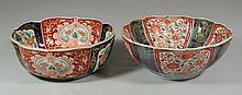 2 Japanese Imari Bowls, largest 9 3/4