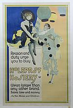 Coles Phillips (American, 1880-1927), lithographic poster, Holeproof Hosiery, poster reads: