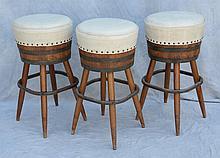 3 Barrel Barstools, 30