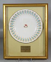 Framed Porcelain Dinner Plate from