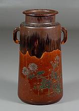 Japanese Pottery Vase, Fushina-yaki, circa 1880, Shimane Prefecture Matsue city, 8 1/2