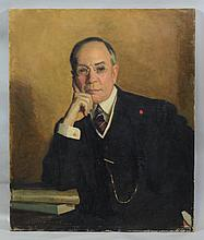 Harrington Mann (Scottish/American, 1864-1937), oil on canvas, Portrait of Man, signed and dated 1924 lower left, 30