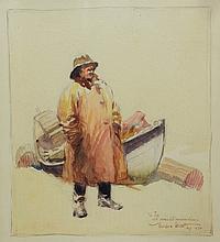 Gordon Grant (American, 1875-1962), watercolor, Sea Captain, inscribed lower right: