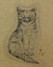 Léonard Tsugouharu Foujita (Japanese/French 1886-1968), lithograph, Messalina, signed in plate, 9 7/8