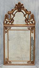 Continental-Style carved and gilt mirror,61