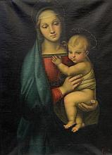 Continental School, copy after the original by the Italian artist Raphael