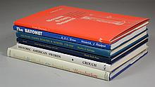 Military reference books, 6 vols, including: 1) Crouch, Howard R, Historic American Swords; 2) Howell, Edgar M, United States Army H...