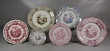 6 Pieces of Staffordshire China, to include: